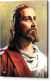 Jesus Christ Acrylic Print by Munir Alawi