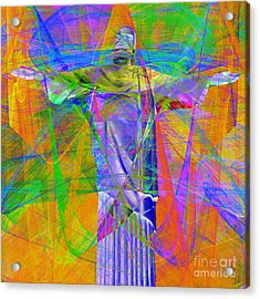 Jesus Christ Superstar 20130617 Square Acrylic Print by Wingsdomain Art and Photography