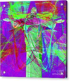 Jesus Christ Superstar 20130617m118 Square Acrylic Print by Wingsdomain Art and Photography