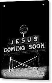 Jesus Coming Soon Acrylic Print by Edward Fielding