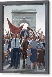 2. Jesus Enters The City / From The Passion Of Christ - A Gay Vision Acrylic Print by Douglas Blanchard