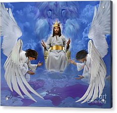 Jesus Enthroned Acrylic Print by Tamer and Cindy Elsharouni