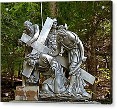 Jesus Falls The First Time Acrylic Print by Terry Reynoldson