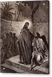 Jesus Healing The Man Sick Of The Palsy Acrylic Print