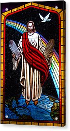 Jesus In Stain Glass Acrylic Print