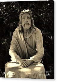 Jesus In The Garden Acrylic Print by Bob Sample