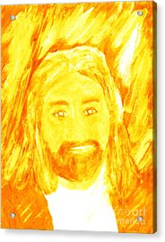 Jesus Is The Christ The Holy Messiah 1 Acrylic Print by Richard W Linford