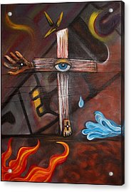 Jesus Acrylic Print by Laura Barbosa