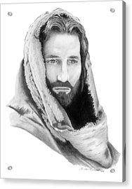 Jesus Acrylic Print by Linda Bissett