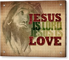 Acrylic Print featuring the drawing Jesus Love by Michele Engling