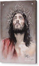 Jesus  Acrylic Print by Melanie D