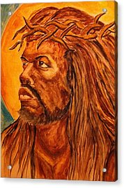 Jesus Of Color Acrylic Print by Clyde Taylor