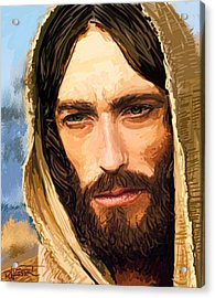 Acrylic Print featuring the digital art Jesus Of Nazareth Portrait by Dave Luebbert