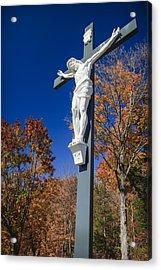 Jesus On The Cross Acrylic Print by Adam Romanowicz