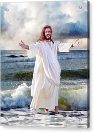 Jesus On The Sea Acrylic Print