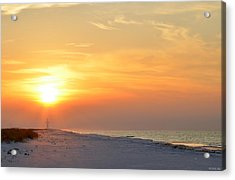 Jesus Rising On Easter Morning On Navarre Beach Acrylic Print by Jeff at JSJ Photography