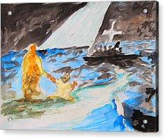 Jesus Saving Peter - Painting Acrylic Print