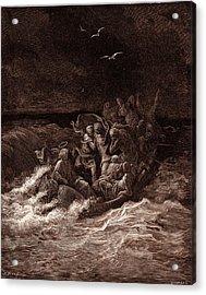 Jesus Stilling The Tempest Acrylic Print