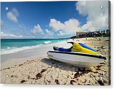 Jet Ski On The Beach At Atlantis Resort Acrylic Print by Amy Cicconi