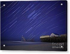 Jet Star Trails Acrylic Print by Amanda Stevens