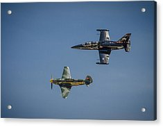 Acrylic Print featuring the photograph Jet Vs Plane by Bradley Clay