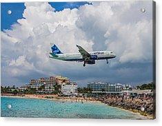 jetBlue in St. Maarten Acrylic Print