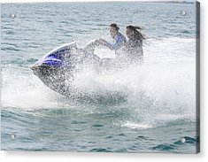Acrylic Print featuring the photograph Jetboat Fun by Phoenix De Vries