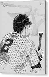 Jeter On Deck Acrylic Print