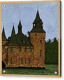 Acrylic Print featuring the drawing Jethro's Castle by Meg Shearer