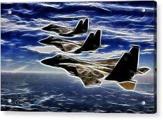 Jets Acrylic Print by Maciek Froncisz