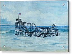 Jetstar Acrylic Print by Anita Riemen