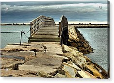 Jetty Bridge Acrylic Print by Janice Drew