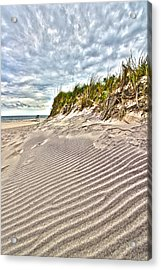 Jetty Four Dune Stripes Acrylic Print