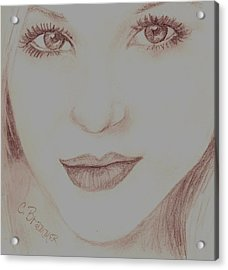 Acrylic Print featuring the drawing Jewel by Christy Saunders Church