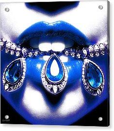 Jewelips Soft Blue Acrylic Print