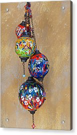 Jewelled Glass Acrylic Print