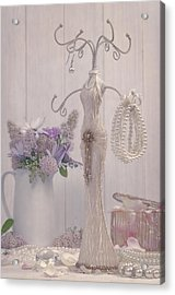 Jewellery And Pearls Acrylic Print by Amanda Elwell