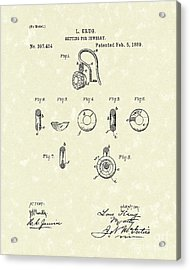 Jewelry Setting 1889 Patent Art Acrylic Print by Prior Art Design
