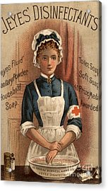 Jeyes 1890s Uk Nurses  Disinfectant Acrylic Print by The Advertising Archives