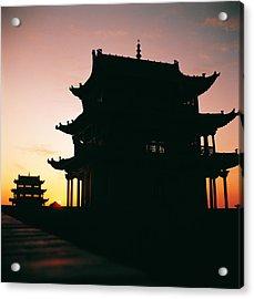 Acrylic Print featuring the photograph Jia Yu Guan by Yue Wang