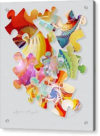 Jigsaw Puzzle Acrylic Print by Gayle Odsather