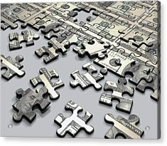 Jigsaw Puzzle Acrylic Print by Ktsdesign/science Photo Library