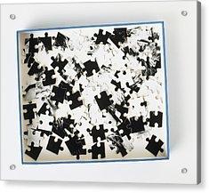 Jigsaw Puzzle Pieces Acrylic Print by Dorling Kindersley/uig