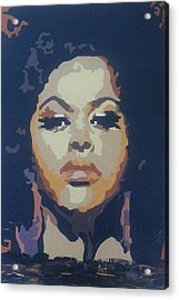 Acrylic Print featuring the painting Jill Scott by Rachel Natalie Rawlins