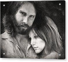 Jim And Pam Acrylic Print by Taylan Apukovska