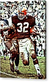 Jim Brown Acrylic Print