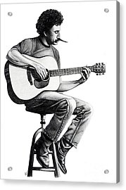 Acrylic Print featuring the drawing Jim Croce by Danielle R T Haney