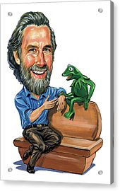Jim Henson Acrylic Print by Art
