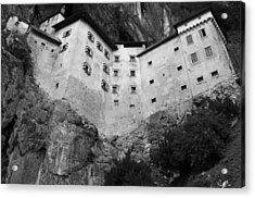 Acrylic Print featuring the photograph Jim Jam Predjama Castle Slovenia by Graham Hawcroft pixsellpix