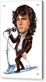 Jim Morrison Acrylic Print by Art